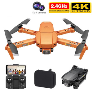 New 4K Dual HD Camera Foldable Holdable WiFi FPV Quadcopter Helicopter Drone Toy