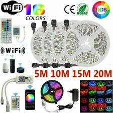 5M/10/15/20M RGB LED Strip Lights Kit Smart WiFi Phone Control Alexa Google Home