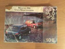 Manuale uso e manutenzione Peugeot 106. Originale