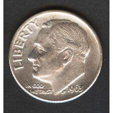 USA Roosevelt Dime 1963 D  A/UNC