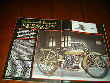 1920 HARLEY DAVIDSON SPORT MODEL  ***ORIGINAL 1983 ARTICLE***