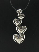 PENDENTIF ARGENT MASSIF CHARM COEUR 925 NEUF SOLIDE PE000121 IMPÉRATRICE