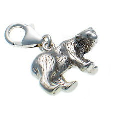 Sterling 925 Solid British Silver Polar Bear Frozen Planet Charm, Heavy Weight