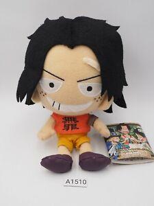 "Child Portgas D. Ace A1510 One Piece Banpresto 2011 Plush 6"" TAG Toy Doll Japan"