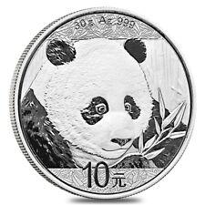 2018 30 gram Chinese Silver Panda 10 Yuan .999 Fine BU