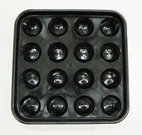 "Pool - Billiard Ball Tray holds 16 Standard 2 1/4"" Size Balls Black"