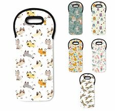 Cute Animal Pattern Insulated Padded Thermal Wine Cooler Bag