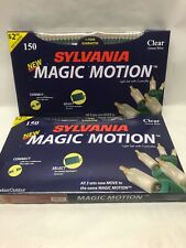 Sylvania New Magic Motion 150 Clear White Christmas Lights Green Wire Controller