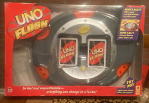 2007 Mattel Uno Flash Electronic Card Game Works 100% Complete With Box