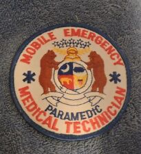 Mobile Emergency Medical Technician (Paramedic) Patch