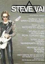 Steve Vai 6 x 8 1/2 Concert Flyer Handbill! United Kingdom