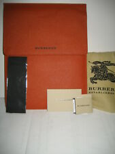 NEW BURBERRY Logo Italy Leather Apple iPad Kindle Tablet Sleeve Case Carry Cover