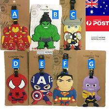 The Avengers Spiderman Captain America Hulk Thor Travel Luggage Tag KID Silicone