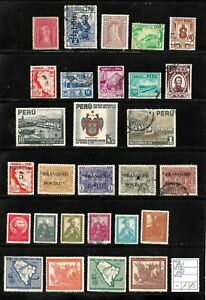(57604) PERU CLASSIC STAMPS 1937/1943 NICE SELECTION USED UNUSED