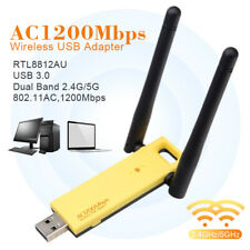 Realtek RTL8812AU 1200Mbps Dual Band WiFi Wireless USB Network Adapter Antenna