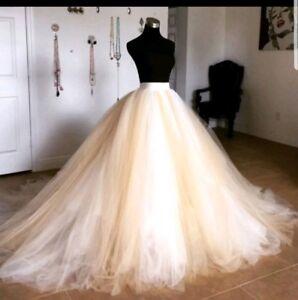 UK White/ivory Multiple Colors Puffy Tulle Tutu Skirt Wedding Dress Size 6-20