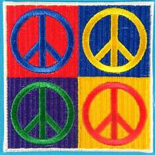 Peace Sign Hippie Love Freedom Boho Retro Biker Embroidered Iron on Patch