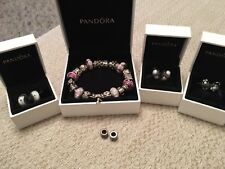 Pandora Bracelet, (Silver Charms and Silver & 9ct Gold Charms)