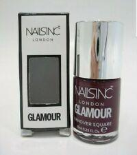 Nails Inc London Nail Polish Hanover Square Dark Red Super Glossy 10ml