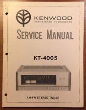 KENWOOD KT-4005 STEREO TUNER ORIGINAL SERVICE MANUAL P187