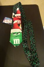 M&M's Mistletoe Christmas Tie - M&Ms Red Green NEW with TAGS