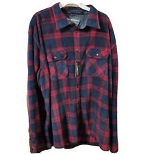 Weatherproof Garment Co Shirt Men's Plaid Flannel XXLarge Burgundy Navy Blue New