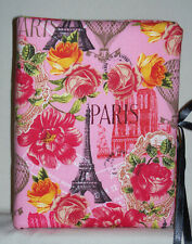 "Paris France, Europe Handcrafted Pink Photo Album 5 1/2""X7"" Holds 80 4""X6"" - NEW"