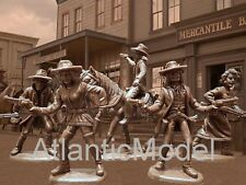 Atlantic 1/32 set Outlaws and Sheriffs 9 figures №1214