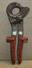 Klein Tools No 63060 Ratcheting Copper Amp Aluminum Cable Cutter Electricians Tool