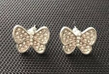 Butterfly Crystal Diamanté Stud Earrings.