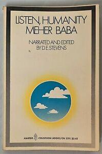 LISTEN, HUMANITY by Meher Baba, D.E. Stevens, Spirituality, Philosophy 1971