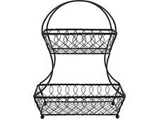 Mikasa Gourmet 2 Tier Flatback Basket Loop And Lattice Wire