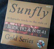Karaoke cdg disc GD-035 Sunfly Gold, Blink 182 & Sum 41,see Description,16 trks
