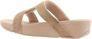FitFlop Marli Crystal Slide Sandal GOLD 7 NEW 691-175