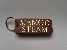 MAMOD STEAM LEATHER KEYRING FOB, TRACTOR ROLLER ENGINE TE1,SR1,AND MODELS ECT