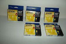 LOT-5 Epson 127 XL Yellow DURABrite Ultra Ink Cartridge EXP: 10/2016 T127420 NEW