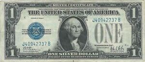 Circulated Series of 1928 B Funny Back $1 Silver Certificate