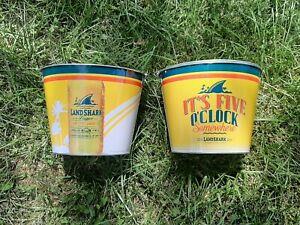 landshark beer bucket 2 pack....free shipping