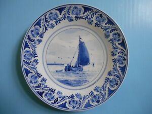 DELFT delfter Fayence Keramik Teller de porceleyne fles Wandteller