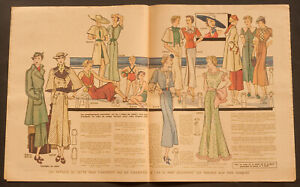 'ECHO DE LA MODE' FRENCH VINTAGE NEWSPAPER HOLIDAY ISSUE 14 JUNE 1936