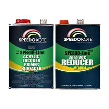 2.1 voc Acrylic Lacquer Primer Gray 2 gallon kit, Mid Temp. Reducer SMR-277/0075