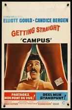 GETTING STRAIGHT Belgian movie poster CANDICE BERGEN ELLIOTT GOULD 1970