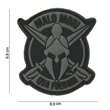 Malo Mori Grau Patch Klett Aufnäher Airsoft Paintball