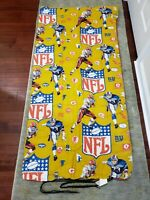 VINTAGE NFL Sleeping Bag Bedspread Comforter Football Team Logo Players 1960-70s