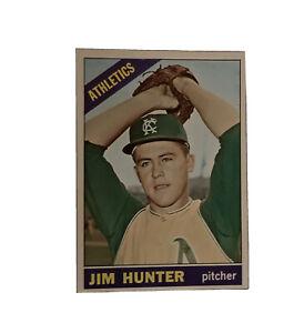 """1965 Topps Jim """"Catfish"""" Hunter #36 Rookie Card Nice Card Near Mint"""