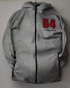 Polaris Ladies Faux Fur Hooded Jacket/Coat Grey Size M,L,XL