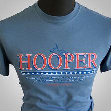 Hooper Retro Movie Themed T Shirt Burt Reynolds Stuntman Trans Am 1978 Blue