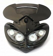 Street Fighter Motorbike Rage Universal fairing Headlight with fixings HLURAGBLK