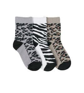 Jefferies Socks Girls Animal Pattern Crew Socks 3 Pair Pack