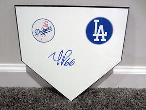 YASIEL PUIG Los Angeles Dodgers LA SIGNED Autographed Home Plate Plaque w/ COA
